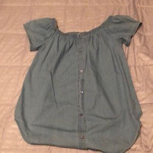 Live 4 truth cute chambray top